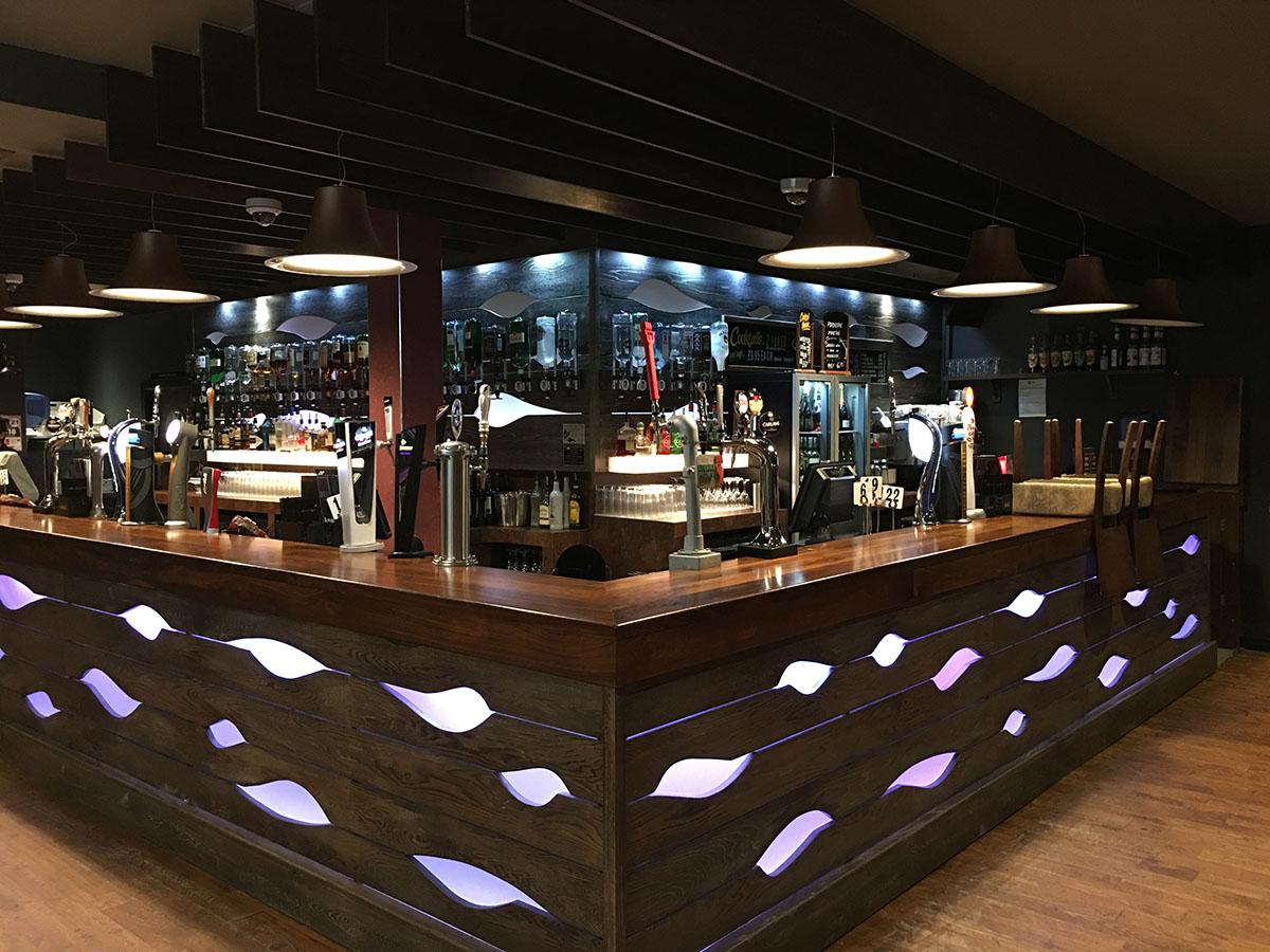 Unique bar design for nightclub in hull jdm joinery for Home decor hull limited